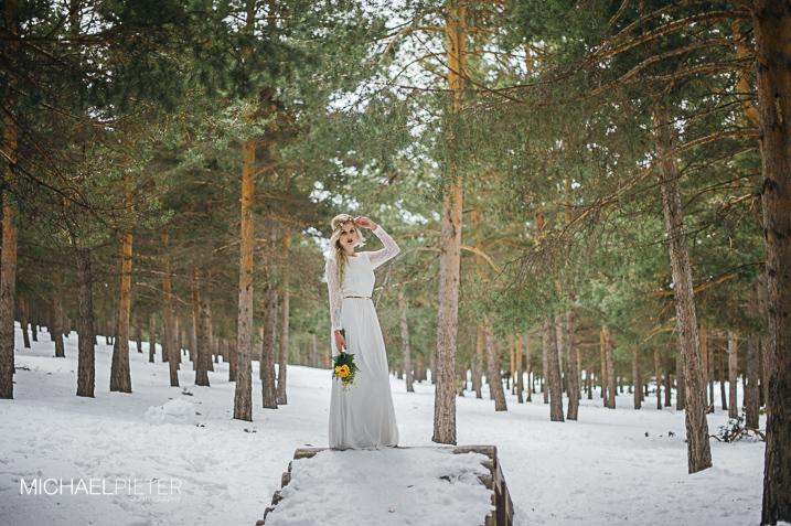 Fotos en la nieve Novio