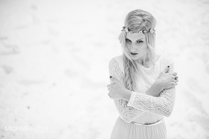 Sesión editorial inspiración en la nieve