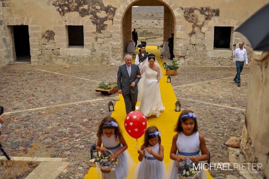 Boda Civil en el Castillo de San Felipe Los Escullos