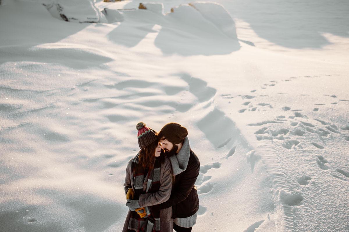 Sesion en la nieve calar alto